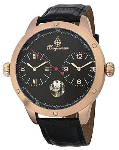 Burgmeister Herren Datum klassisch Automatik Uhr mit Leder Armband BM233-322