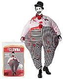 Original Cup - Disfraz Hinchable con Bomba de Aire USB, Traje Inflable Adultos para Fiesta, Conciertos, Halloween - Payaso Clown