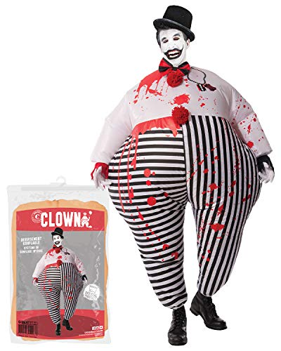 Original Cup - Disfraz Hinchable con Bomba de Aire USB, Traje Inflable Adultos para Fiesta, Conciertos, Halloween - Payaso Clown