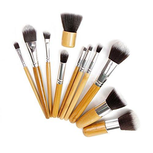 Petalum Pinceaux Professionnel Cosmétique Maquillage Kit Brush Brosse avec Sac Rangement Pour Débutants Beauté Make Up (11 pcs)
