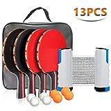Powey Ping Pong Set Portable Table Tennis Set Ping-Pong Game Pingpong Racket Set