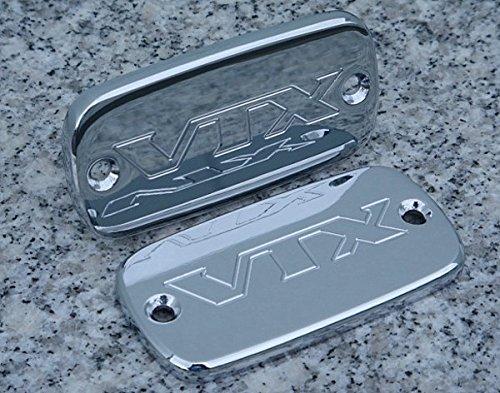 i5 CHROME MASTER CYLINDER CAPS for Honda VTX 1800 VTX1800 2002-2008