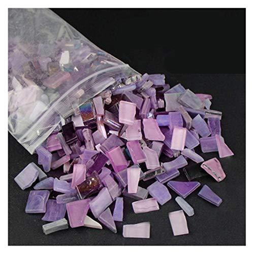 SKVVIDY Teselas 230 g de Color Mezclado Espejo de Cristal Espejo Mosaico Azulejos de Forma Irregular Piedra Mosaico artesanía artesanía Materiales para niños/niños Rompecabezas Mosaico Ceramica