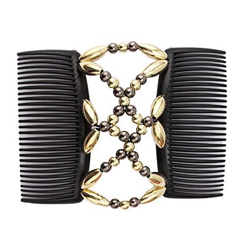 Perlen Haarkämme Magie-Elastische Haar-Clips Stretchy Haare Kämmen Doppel Clips Für Frauen-Mädchen-Haar-Zusatz