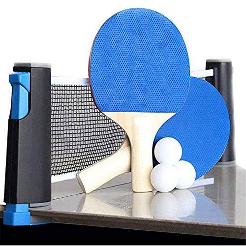 Portable Ping Pong Set, 2 Paddles/Rackets En 6 Balls, Opslag Te Dekken En Retractable Tafeltennis Net Voor Iedere Tafel,B