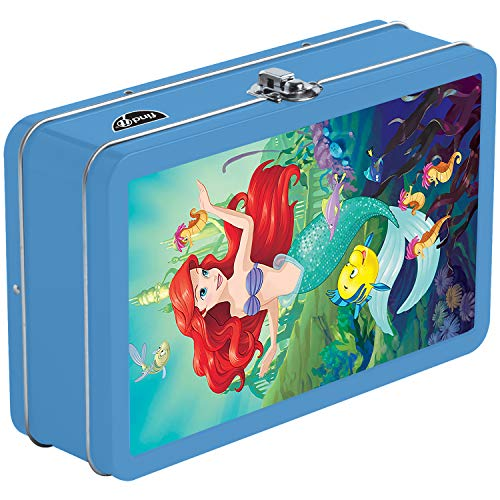 Find It Tin 3D Pencil Box and School Supplies Storage, Ariel