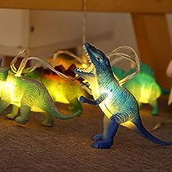3. SAKACACT Realistic Looking Dinosaur String Lights