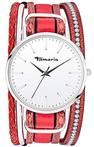 Tamaris Anna Armbanduhr Silber rot