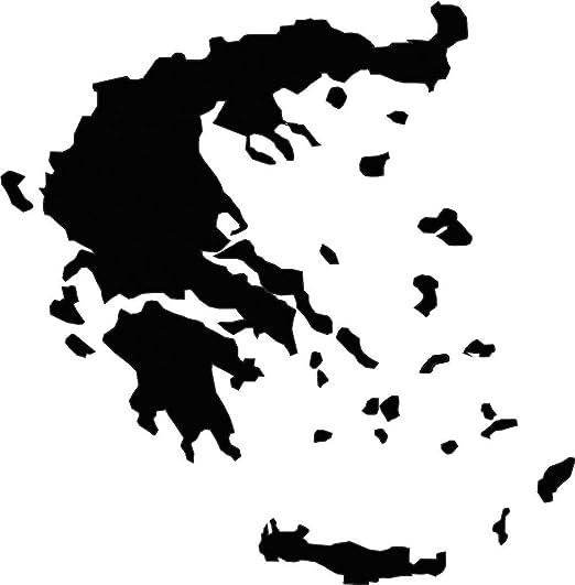 Auto Aufkleber Griechenland Konturg Sticker Greece 11cm Decal Die Cut Auto