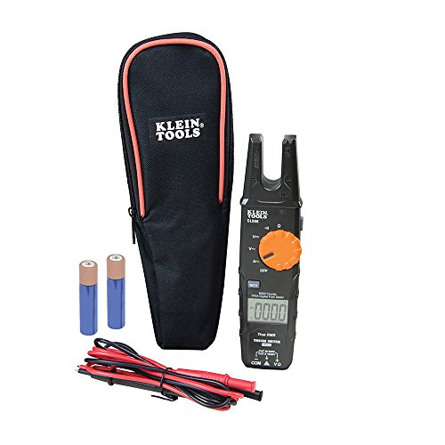 Klein Tools CL360 CL360 Electrical Tester, Open Jaw Fork Non-Contact Voltage Meter with TRMS Technology, with Case, Test Leads and Batteries