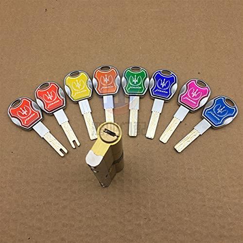Cerradura de barril de puerta Bloqueo de la puerta de latón  Cilindro Double Sides Sided Break Anti PY Barra de acero inoxidable Latón Snake Groove Cilindro Color 8 Cilindros de bloqueo pulgar