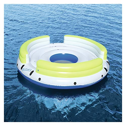 Youpin 6 Person Giant Inflatable Round Lazy Day Party Island Float Boat Swimming Pool Floats Sea Longue Bed Water Toys Lake Raft