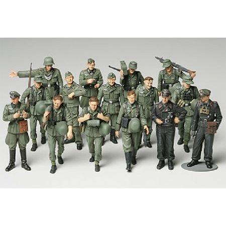 TAMIYA 300032530 300032530-1:48 WWII Figuren-Set Deutsche Infanterie Manöver, 15 Soldaten, originalgetreue Nachbildung, Plastik Bausatz, Basteln, Modellbausatz, Zusammenbauen, unlackiert