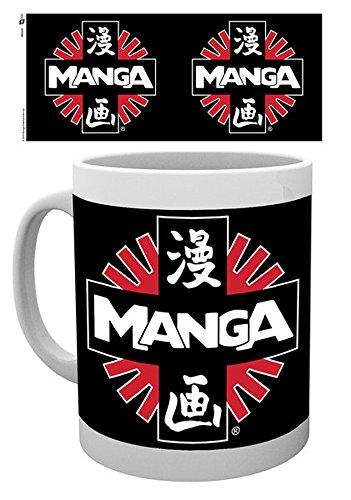 Empireposter – Manga – Logo – Taille (cm), env. 8,5 cm Hauteur 9,5 – Licence Tasses, NEUF – Description : – Mug en céramique, blanc, imprimé, capacité 320 ml, licence officielle, Passe au Lave-Vaisselle et au micro-ondes de