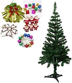 Evisha 3 Feet Long Artificial Christmas Tree and 43 Pcs Hanging X-Mass Christmas Decoration