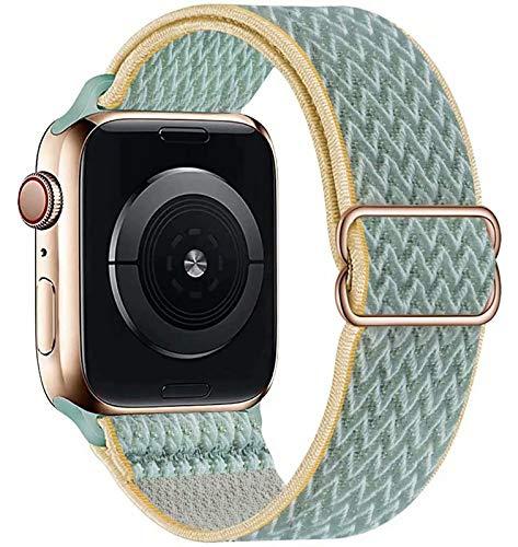 GBPOOT Solo Loop compatible con Apple Watch, correa de nailon deportiva para IWatch Series 6/SE/5/4/3/2/1, Sonnig, 42/44 mm