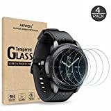 [4 Pack] Tempered Glass Screen Protector for Samsung Galaxy Watch 42mm / Gear S2, Akwox [0.33mm 2.5D High Definition 9H] Premium Clear Screen Protector for Samsung Galaxy Watch Smartwatch 42mm/Gear S2