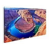 islandburner Tableau Tableaux Coude en Fer à Cheval sur Le fleuve Colorado à Page Arizona USA Cadre sur Toile Impression Photo Affiches