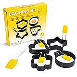 Egg Ring Round Circle Egg Ring Set Stainless...
