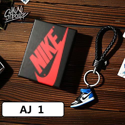 Mini zapatilla 3D de moda llavero figura AJ1-20 【1:6】 con caja para regalo de Navidad