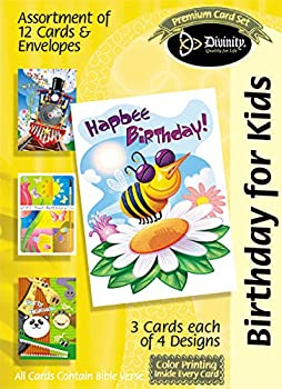 Divinity Boutique Greeting Card Assortment  Birthday for Kids  18035N  multicolored 5x7 inch