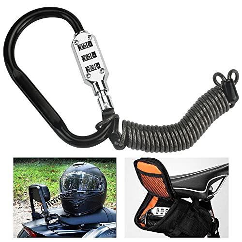 STCRERAG Candado Casco Moto Antirrobo Casco Candados de Moto Cable de Bloqueo...