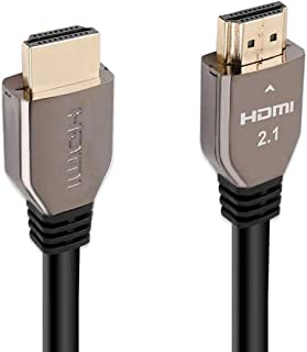 Promate 8K HDMI Cable, Premium 48Gbps High-Speed HDMI 2.1 Audio Video Cable with Enhanced Audio Return (eARC), 3m Anti-Tan...