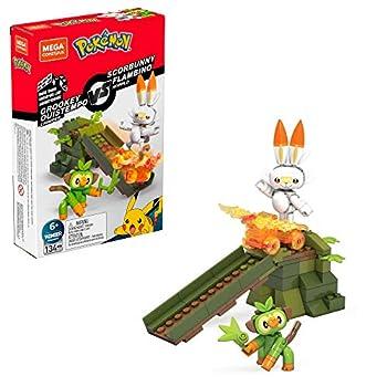 Mega Construx Pokemon Grookey vs Scorbunny Figure Building Set