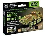 Vallejo Modelo Air Set - US MERDC Desert Colors