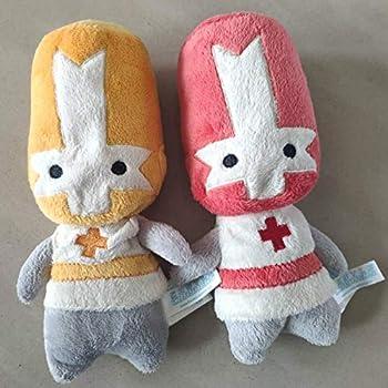 Detazhi Soft Toys,Castle Crashers Red Orange Knight Stuffed Plush Toy 20cm Set of 2  Color   Set of 2
