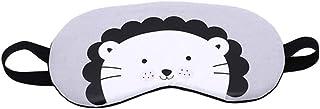 LALANG Cartoon Animal Pattern Sleep Mask Travel Massage Relax Eye Shade Cover(Lion head)