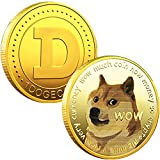 1oz Gold Dogecoin Commemorative Coin Gold Plated Doge Coin 2021 Limited Edition Collectible Coin with Protective Case