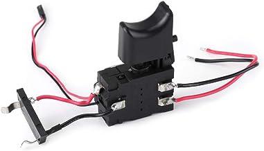 Interruptor de Taladro Eléctrico - Batería de Litio Interruptor de Gatillo de Control de Velocidad de Taladro Inalámbrico con Luz Pequeña 7.2 V - 24 V