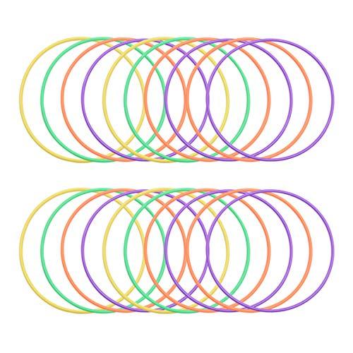 Imikeya Ringen voor het werpen van ringen, van kunststof, carnaval, tuinspelen, familie, sportactiviteiten buitenshuis aan het plafond