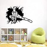 PVC-Pegatinas de pared-Etiqueta engomada de la silueta del receptor de la muchacha del voleibol Etiqueta...