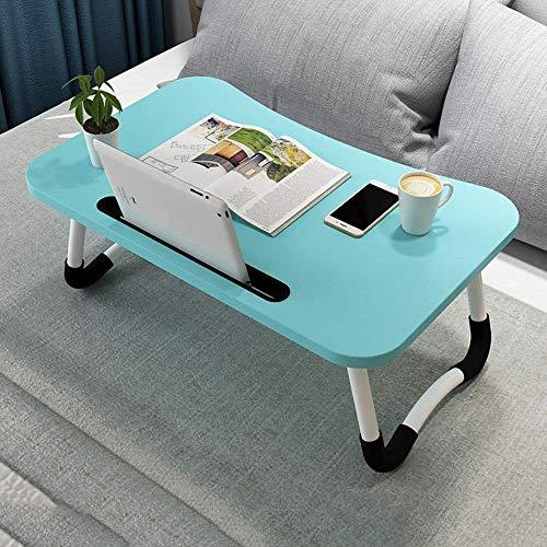 Lounger Mesa para computadora sofá Escritorio para computadora portátil Soporte para computadora portátil Plegable para Cama y sofá,Bandeja de Desayuno para Lectura (60×40×27 cm)