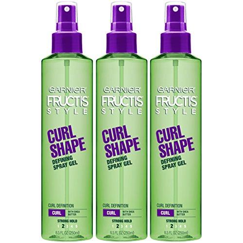 Garnier Fructis Style Curl Shape Defining Spray Gel for Curly Hair, 8.5 Ounce Bottle, 3 Count