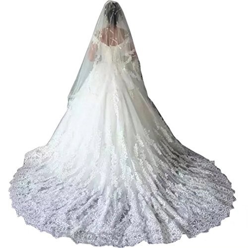 Chady Gorgeous Off Shoulder Lace Wedding Dresses for Bride 2019 Ball Gown Plus Size Court Train Formal Bridal Gowns White