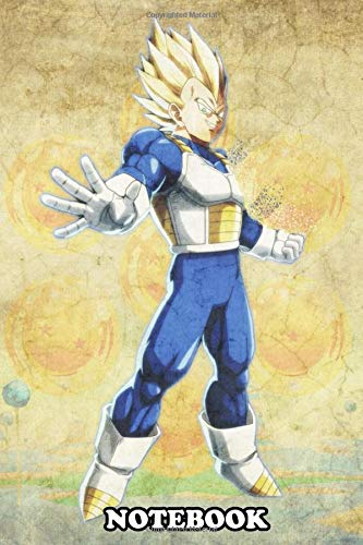 Notebook: Vegeta , Journal for Writing, College Ruled Size 6' x 9', 110 Pages