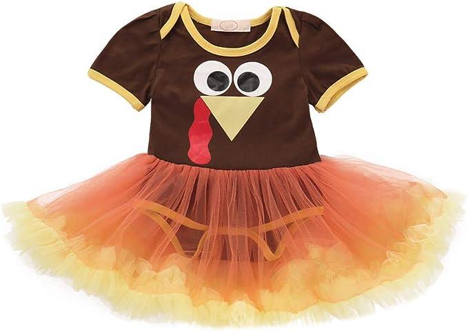 KONFA Toddler Baby Girls Pumpkin Letter Rompers 0-24 Months,Little Princess Jumpsuit Halloween Costumes Set