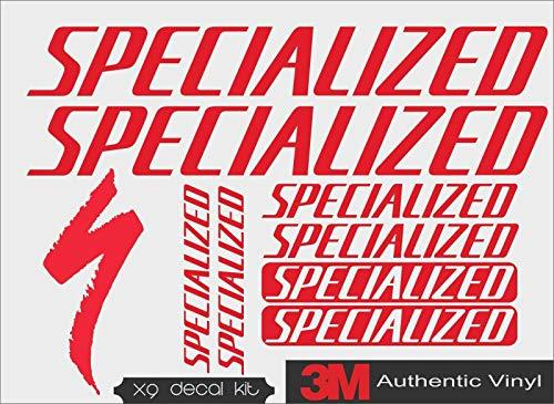 myrockshirt 9teiliges Set spezialized Bikes Fahrräder gesamt ca 30x20cm Aufkleber,Sticker,Decal,Autoaufkleber,UV&Waschanlagenfest,