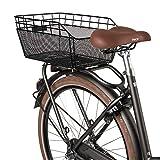 FastRider Fahrradkorb Schulranzen Hinten, 25L Korb für Heckträger, Bike Basket aus Metall Inklusive Montage, Wetterbeständig - Schwarz