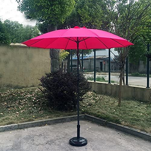 OWUV 2.17m Sombrilla Redonda Exteriores (sin Base), Poste De Hierro para Sombrilla, Altura Ajustable, Sombrilla De Jardín, para Pabellón/Balcón/Terraza/Mesa De Café/Sombrilla De Playa