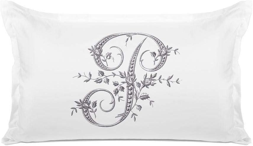Di Lewis 5 popular Pillowcase - Overseas parallel import regular item Vintage French Ca P Letter Pillow Monogram