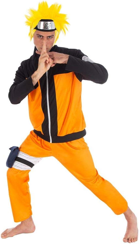 punto de venta de la marca Naruto Disfraz Uzumaki 5 Piezas Piezas Piezas Naranja Negro  envío gratuito a nivel mundial