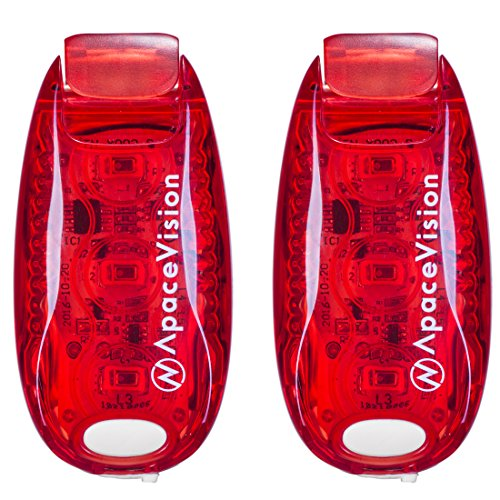 EverLightFX USB Rechargeable LED Safety Light (2 Pack) by Apace - Super Bright Bike Tail Light Works Brilliantly as Running Light for Joggers, Pets, Bicycle Strobe or Rear Clip On Lights