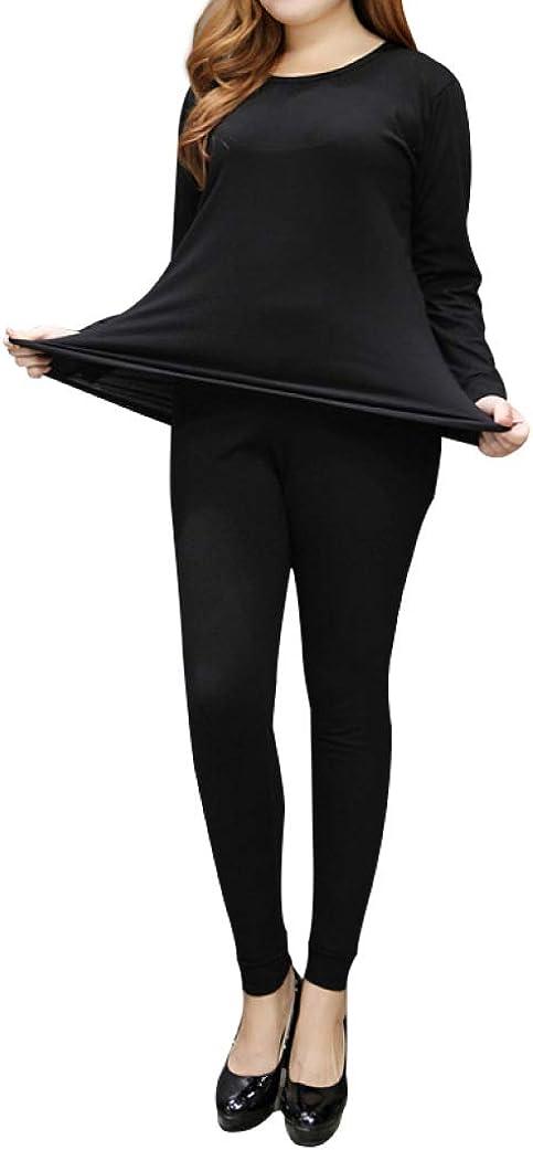 Women's Plus Size Thermal Long Johns Sets 2 Pcs Underwear Top & Bottom Pajamas