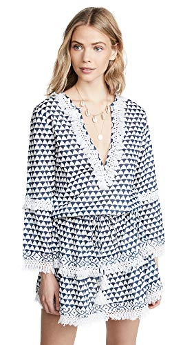 Melissa Odabash Women's Claudia Dress, Riviera, Blue, Print, Large