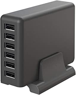 MOTTERU (モッテル) AC充電器 トータル60W 出力 USB-A 6ポート スタンド付き iPhone / iPad / Apple Watch / AirPods / AirPods Pro / 各種Android / タブレット...