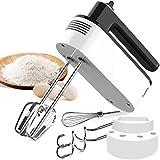 Sbattitore Elettrico per Dolci, Fruste Elettriche Cucina , 5 Velocità +funzione turbo +Pulsante di Espulsione + 5 Accessori in Acciaio Inossidabile